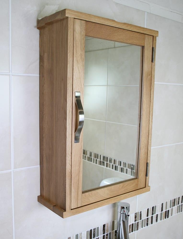 oak bathroom wall cabinet